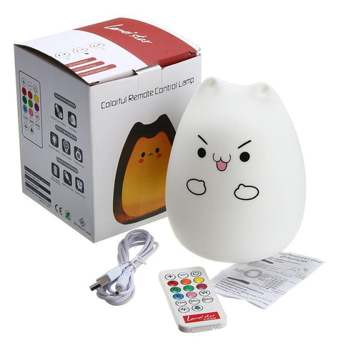 Color Changing Night Light Lamp For Children Bedroom With Remote Control