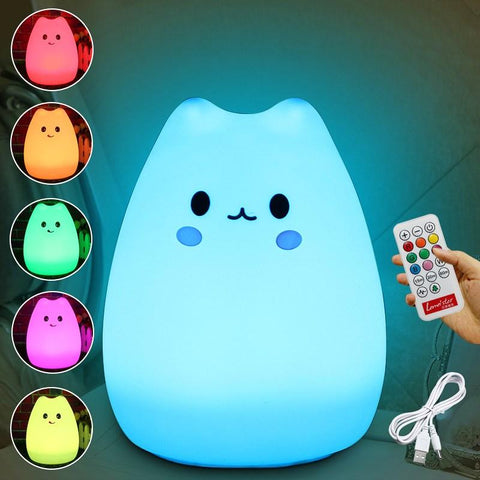 Color Changing Night Light Lamp For Children Bedroom