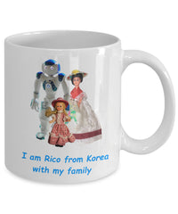 Custom Mug with happy Robot Family