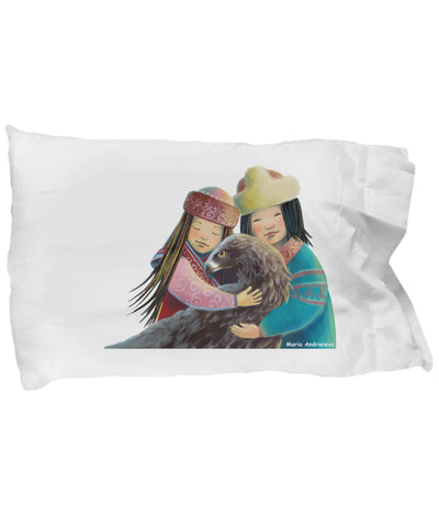 Pillow Case - Pillow With Golden Eagle