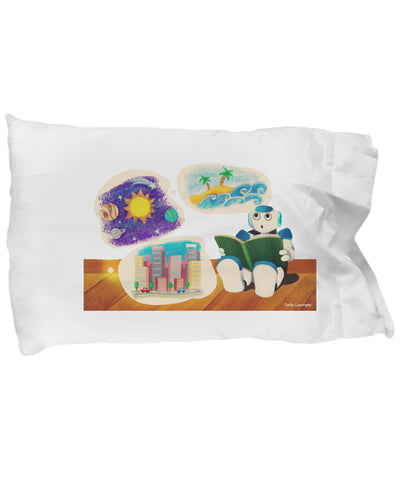 Pillow Case - Pillow With Robot