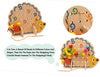 Image of Montessori Early Education, Wooden Toy Hedgehog with Fruit Beads