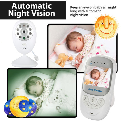 Baby monitor with Light Vision, Lullabies and Baby Intercom