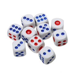 10PCS 10mm White Regular Dice
