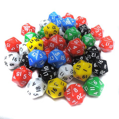 2PC D20 RPG Gaming Dice 20 Sides