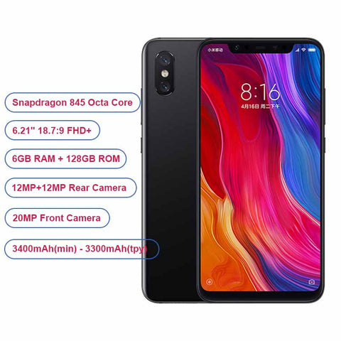 Global Version Xiaomi Phone Mi8 Mi 8