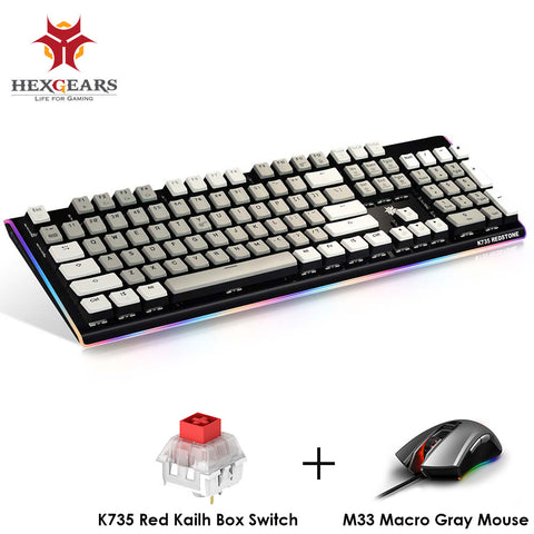 HEXGEARS Top Gaming Keyboard Mouse Backlit RGB