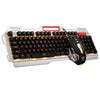 Rainbow LED Backlight USB Wired Pro Gaming Keyboard Mouse