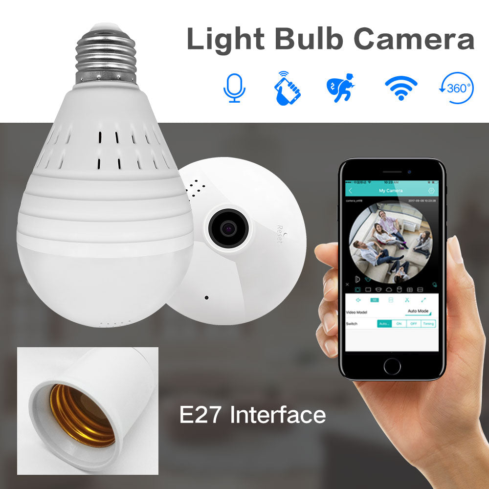 Bulb Wireless Wifi IP Camera Home Security