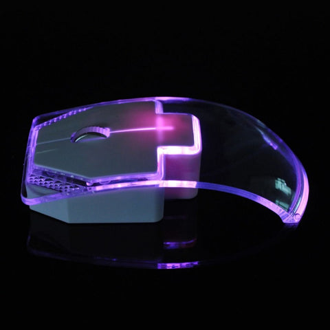 Transparent 1.3m Silent Wired Mouse