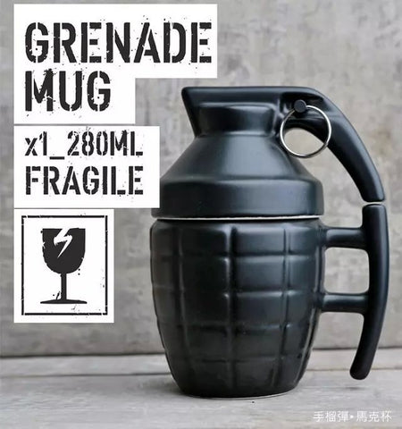 Geek Ceramic Grenades Coffee Cup