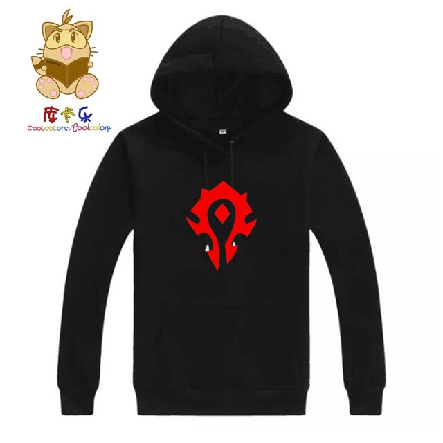 Wower Gamer Men's Hoodies the HORDE emblem