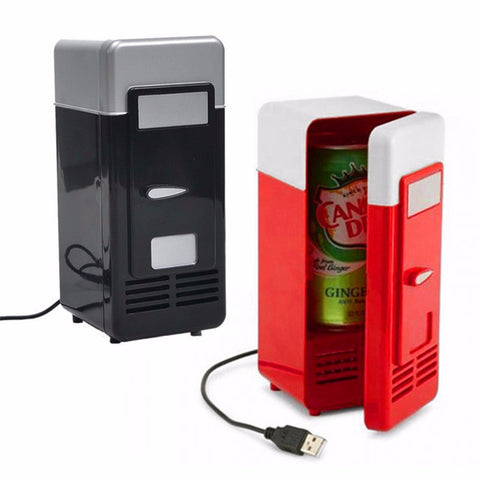 Mini Fridge Cooler Beverage Drink Cans