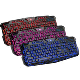 Computer 3 Colors LED Gaming Keyboard