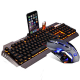 M398 LED Ergonomic Gaming Keyboard +  Optical Gamer Mouse