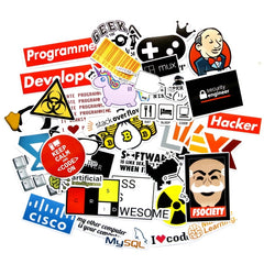 40 Pieces/set SQL Programming Stickers