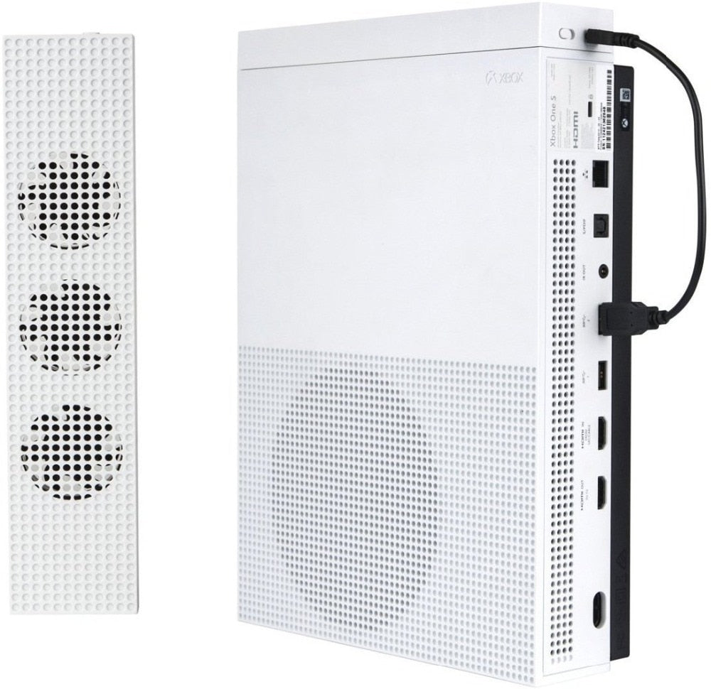 Xbox One S 3 Cooling Fan USB Charging & Data Syncing