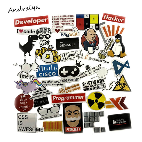 40 Pcs/Set Geek Programming Stickers