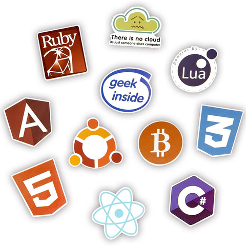 50 PCS Cool Programming Stickers