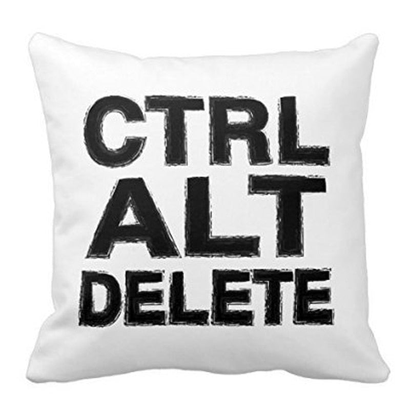Control Alt Delete Throw Pillowcase