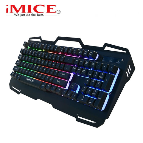 Gaming Keyboard Metal Panel RU/EN