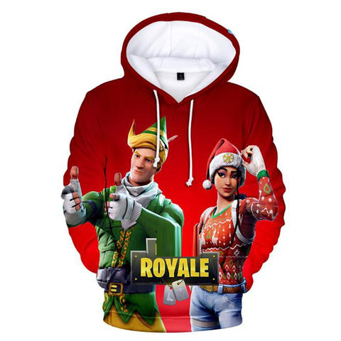 Hot Game 3D Christmas Hoodie Battle Royale