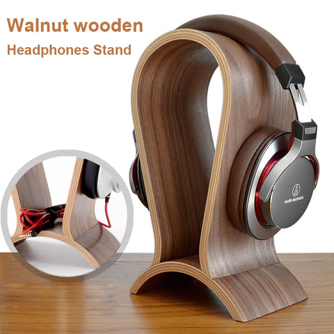 Universal Wooden Headset Stand