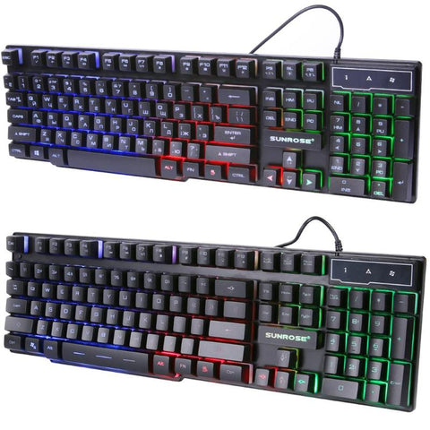 K201 Mechanical Feel Splashproof Gaming Keyboard