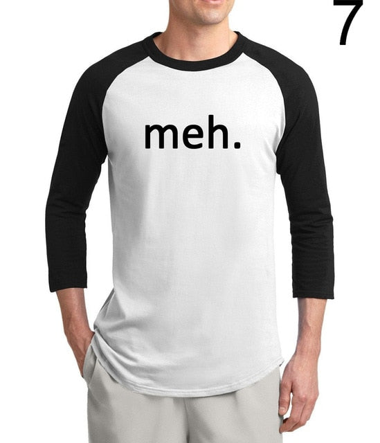 Meh Geek Men 3/4 Sleeve 2019
