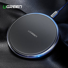Ugreen Leather Fast Wireless Charger For iPhone