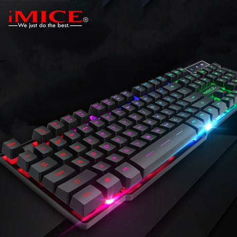 Gaming Keyboard Mechanical Feel RU/EN