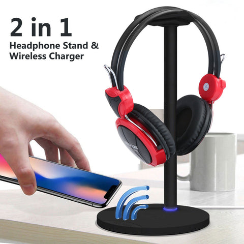 Headset Stand Holder+Wireless Charging Dock