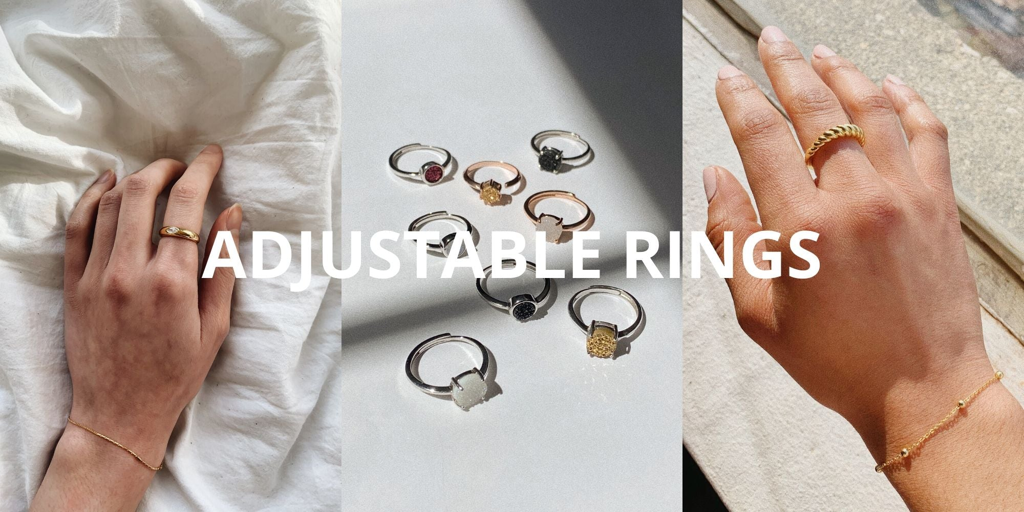 Adjustable Rings from Little Sky Stone