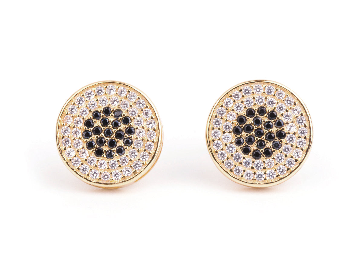 il filled earrings snhk round gold simple hammered stud zoom listing fullxfull