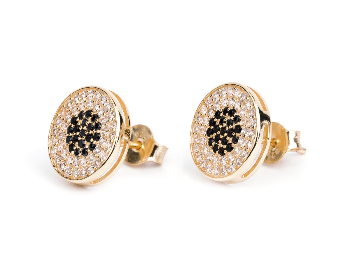 Disc 14k Gold Stud Earrings