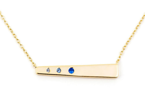 Gradient 14K Gold Vermeil Pendant Necklace