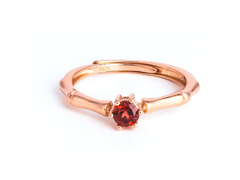 Serpentine - Opal Rose Gold Ring