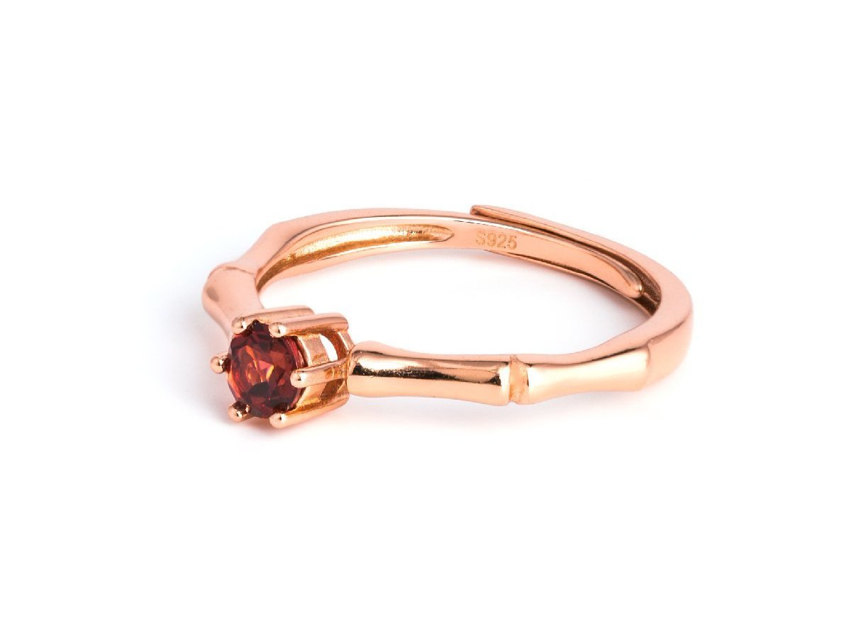 Virtue Garnet Rose Gold Ring in Columbus Ohio