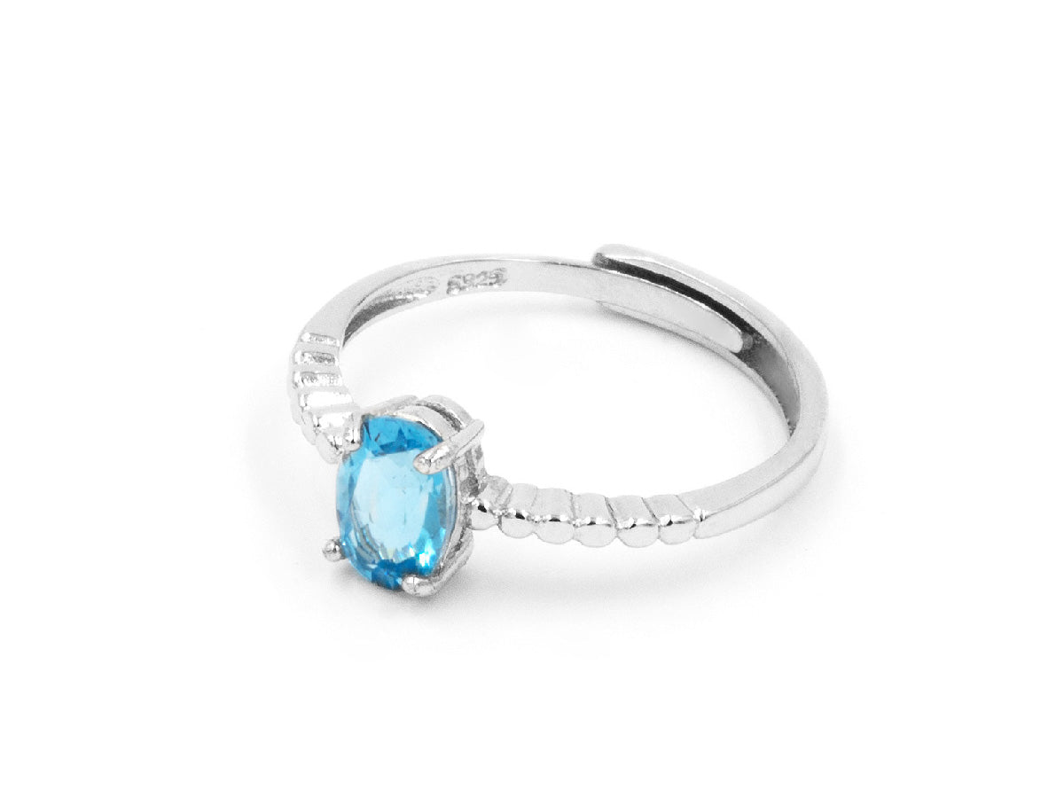 Blue Topaz Sterling Silver Ring in Columbus Ohio