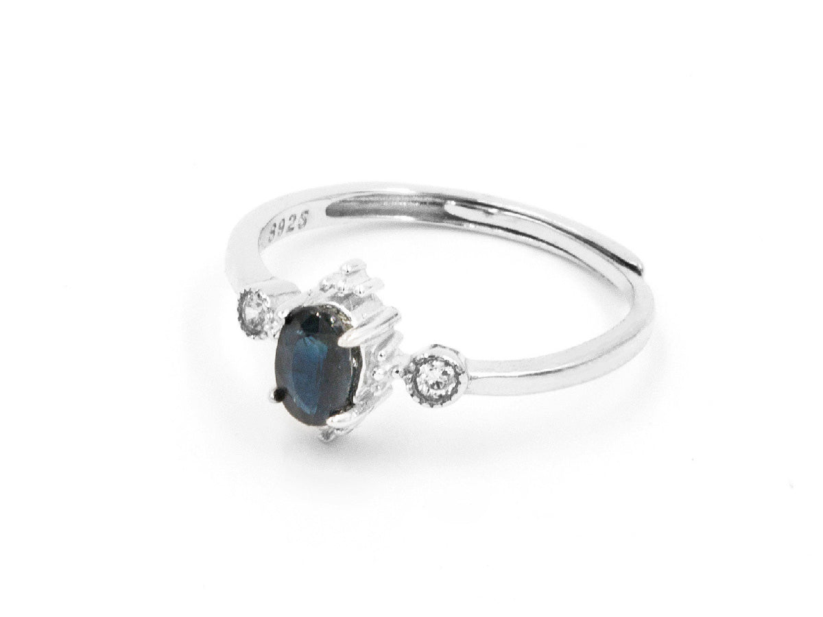 Royal Sapphire Sterling Silver Ring in Columbus Ohio