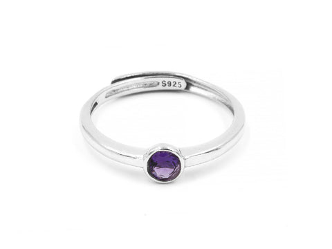 Aixin Amethyst 14k Gold Chain Ring
