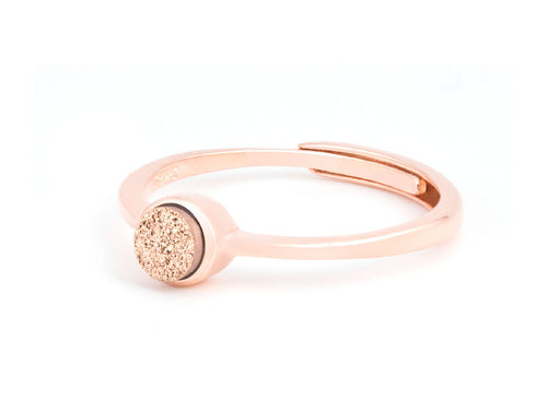 Abyss Bronze Druzy Ring