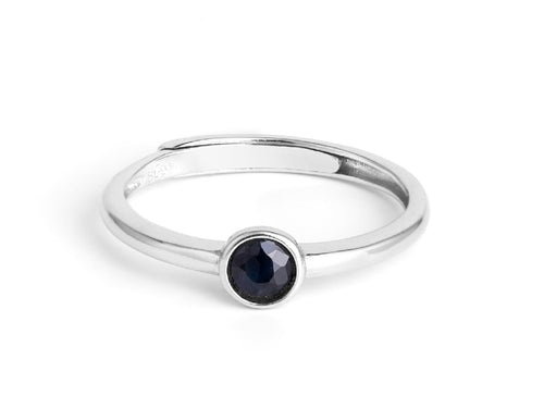 Mid Sapphire Sterling Silver Ring in Columbus Ohio
