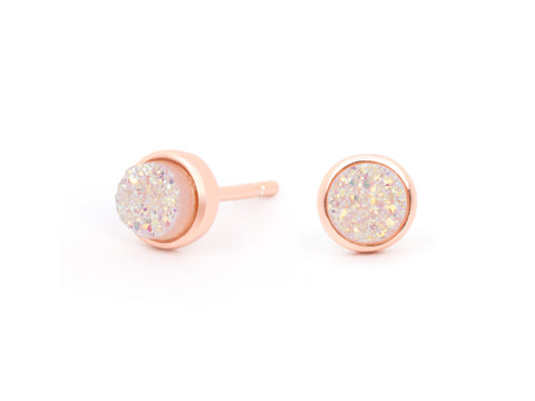 Ada Garnet Silver Stud Earrings