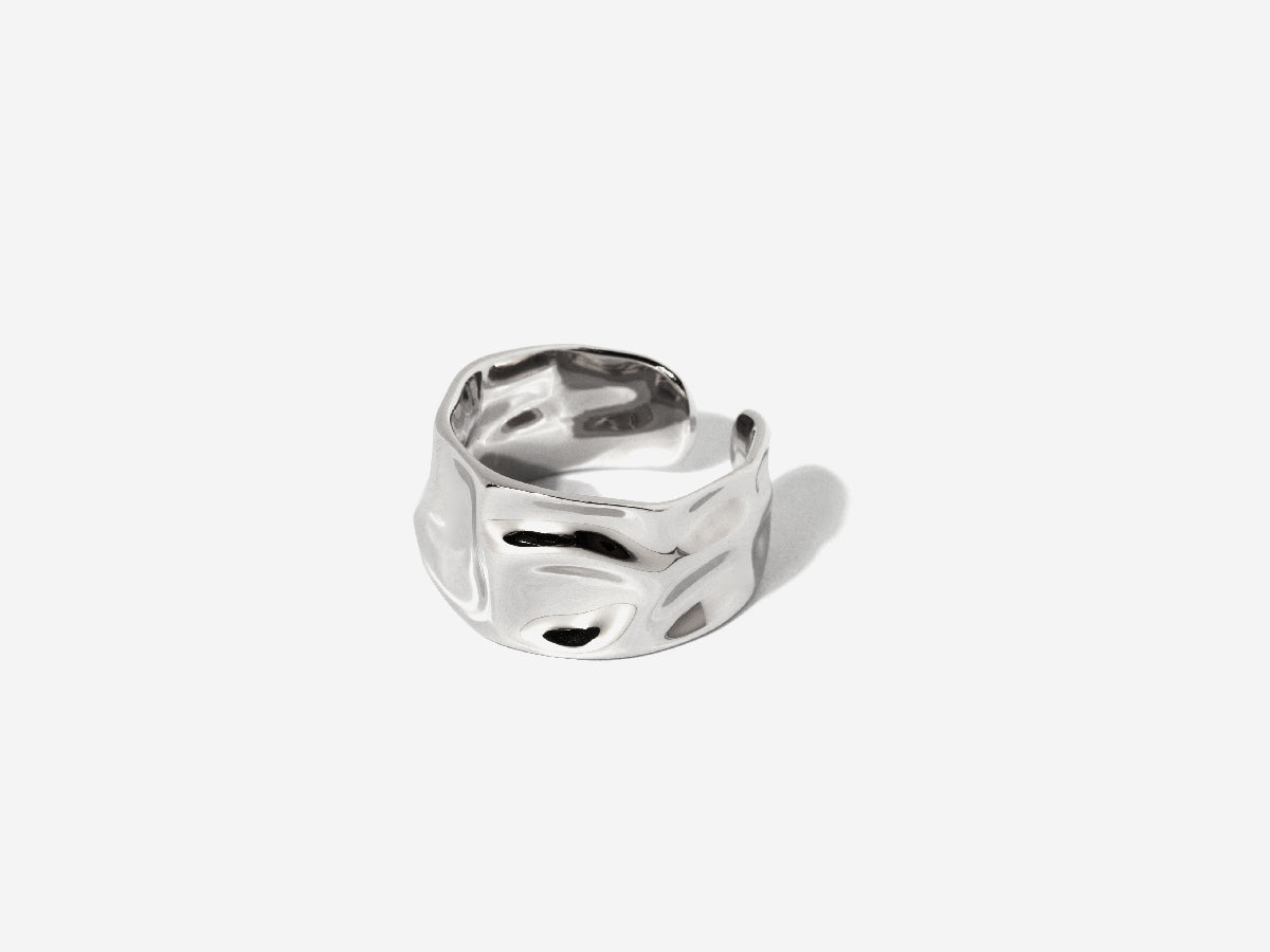 Alysa Textured Silver Ring
