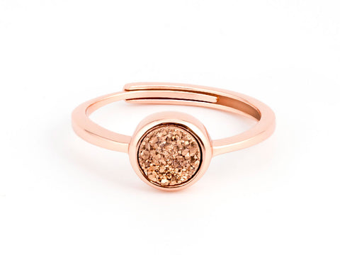 Gulf Rose Gold Druzy Ring