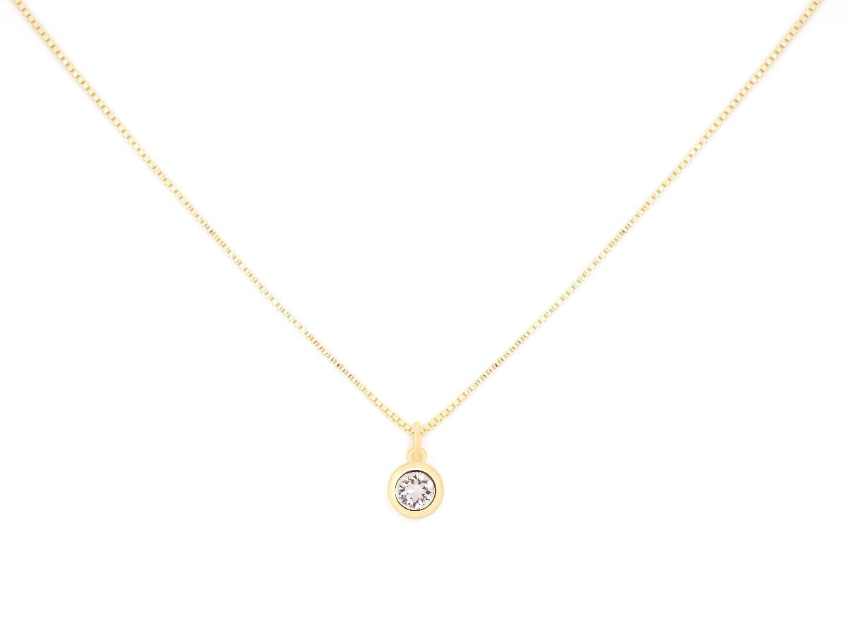 April Birthstone Clear Crystal Necklace