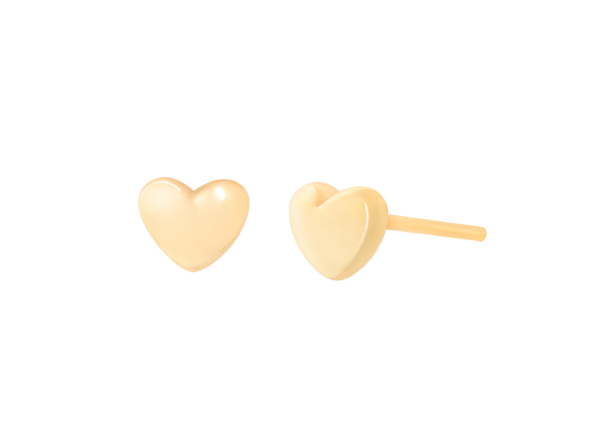 Avy Puff Heart 14k Gold Earrings
