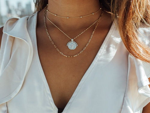 "Belcher Chain Necklace in 14K Gold ( 16"")"