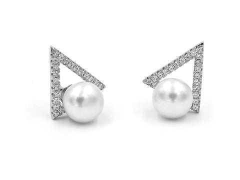 Bud Pearl Stud Earrings